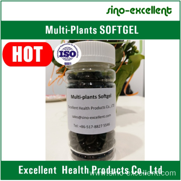Multi-plants extracts softgel/soft capsules